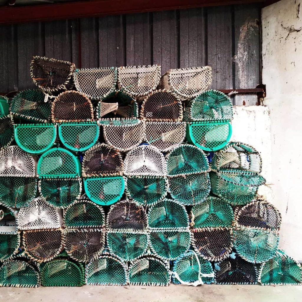 Photographie casiers pêche